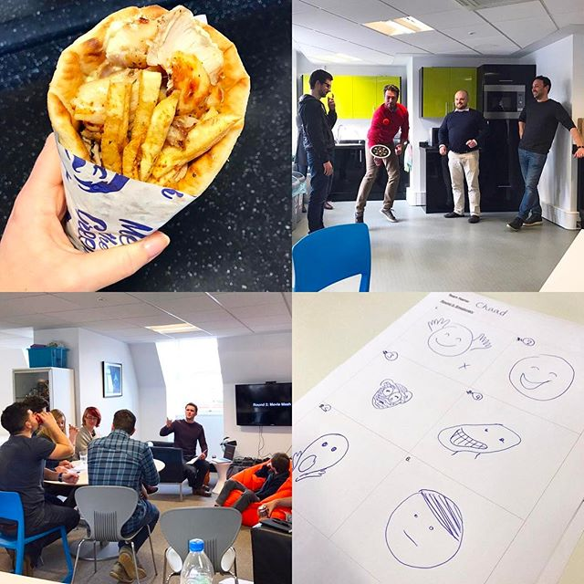 Today's quiz was full of gyros, emojis, bouncing balls and @theharryford dancing the Carlton Jive... what more could you want from your Friday? #LifeOfKyan #FridayFeeling #Gyros #BounceIt #Emojis