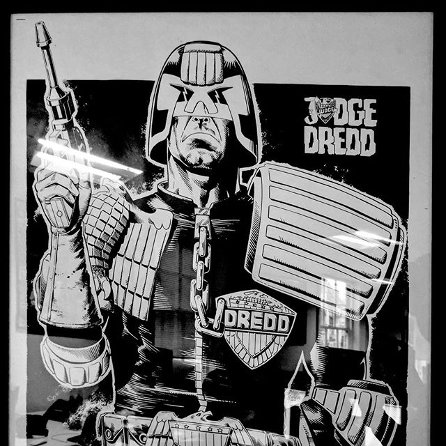 Happy 40th Birthday @2000AD! Judge Dredd and #BrianBolland forever in our hearts! #KyanArt #2000AD40th