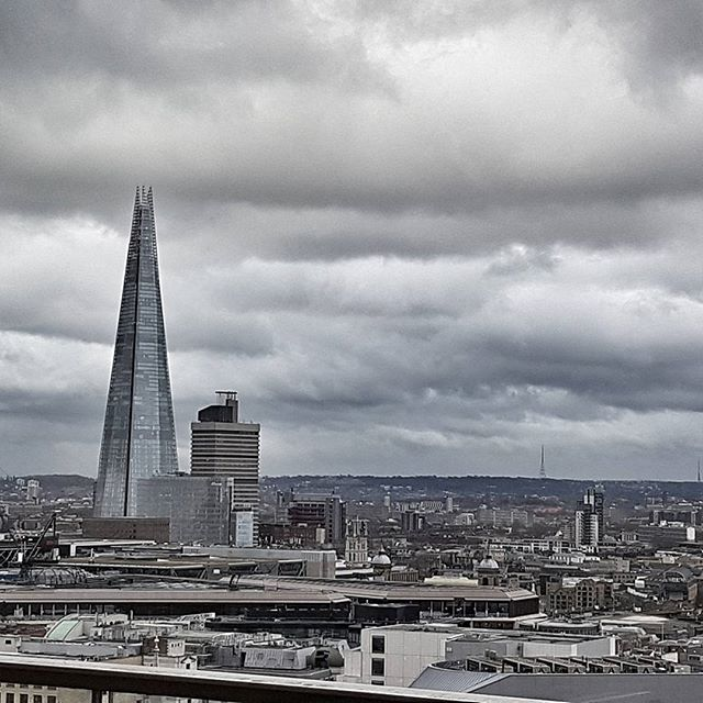 Quite a view from our meeting in London today! #TheShard #london🇬🇧 #moodyclouds