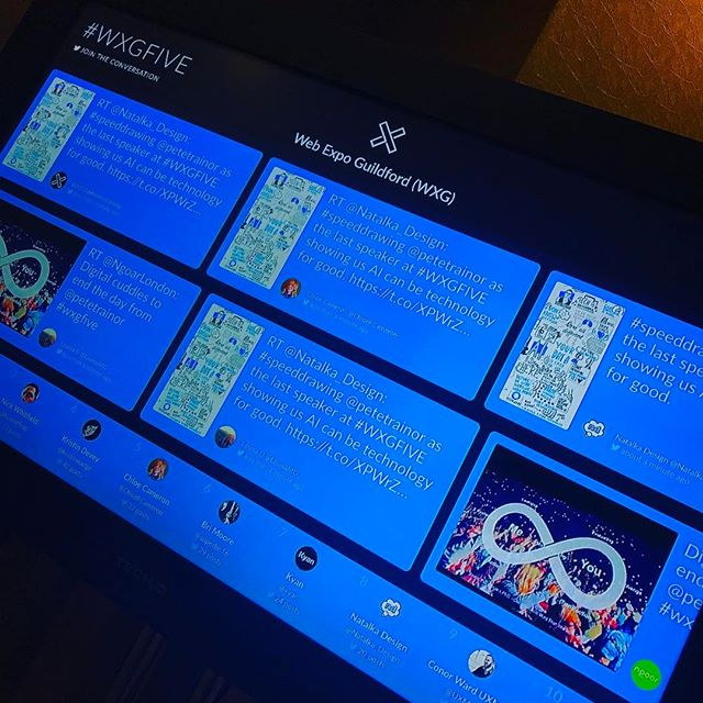 We've got live updates of your tweets on the big screen... keep em' comin'! #WXGFIVE