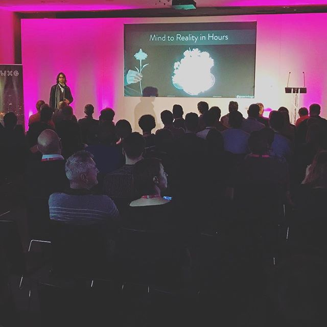"""""""We're getting to the point where we  may have the capabilities of replacing human beings altogether"""" - @guyarmitage, from Zealous, talks about 'A creative future'. #WXGFIVE"""