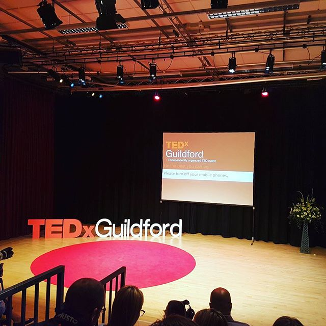 We're at TedX Guildford! Looking forward to some inspiring talks #LifeOfKyan