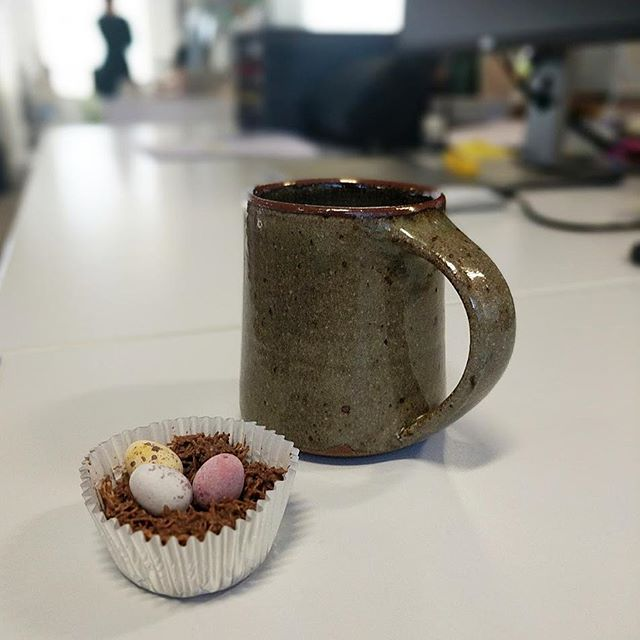 @krillatron keeping the office chocolate levels topped up with the last of the Easter treats! 🐣 #LifeOfKyan