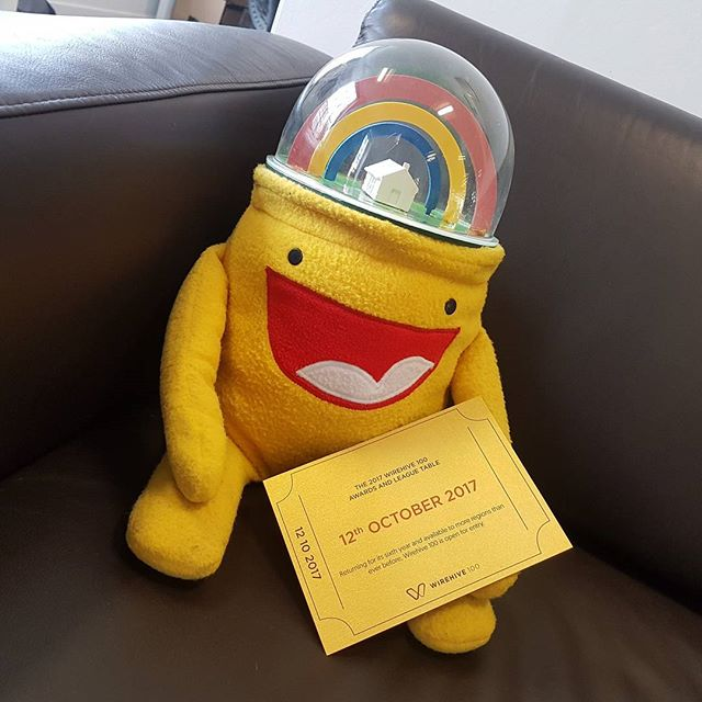 ♬ He's got a Golden Ticket!♬ Big Rainbowhead is excited for the @wirehive100 awards! It was tough to tell him he has to wait until October 😐 #wirehive100