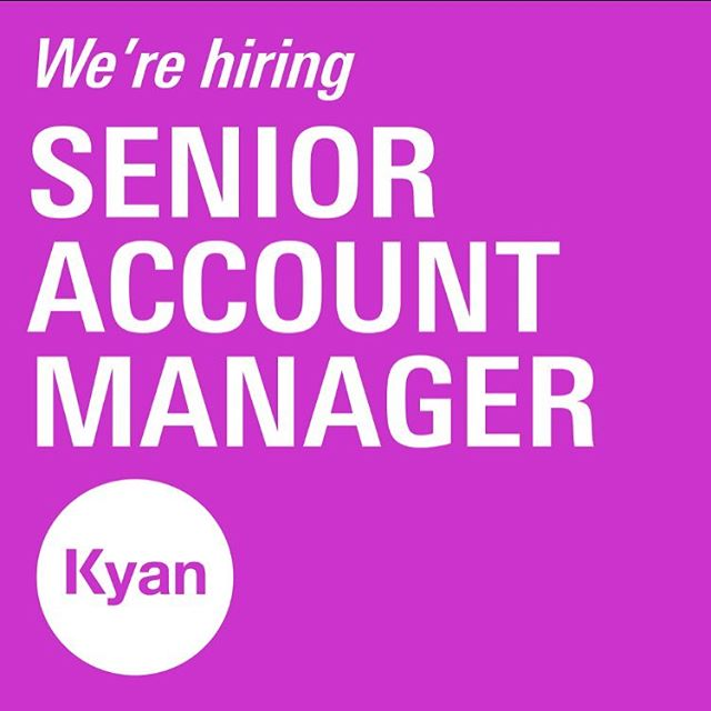 We're hiring for a Senior Account Manager with a passion for all things digital. Get in touch if this is you! http://bit.ly/2p0oCwb #jobs #hiring #workforkyan