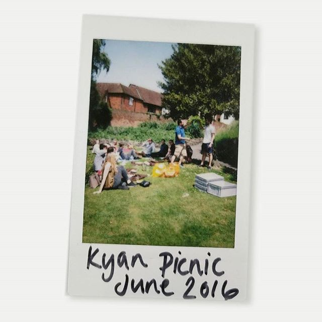 Throwback to another lovely sunny team picnic at #GuildfordCastle #TBT #polaroid  #LifeOfKyan