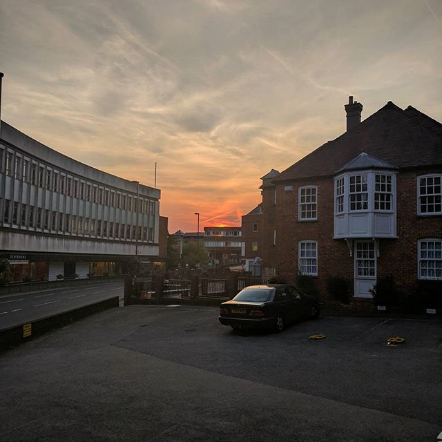 Sun shines on the righteous! Lovely sunset over new Kyan HQ #LifeOfKyan