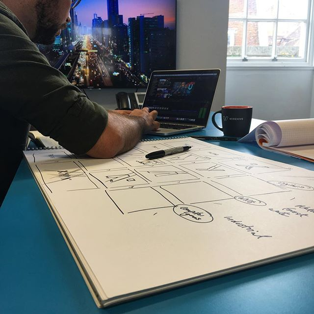 The best videos start life on paper #sketching #storyboard