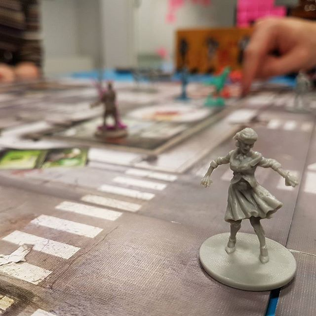 Standard evening fighting off the zombie hordes at Kyan Towers last night 🗡👻💀 #BoardGameNight #zombicide #LifeOfKyan
