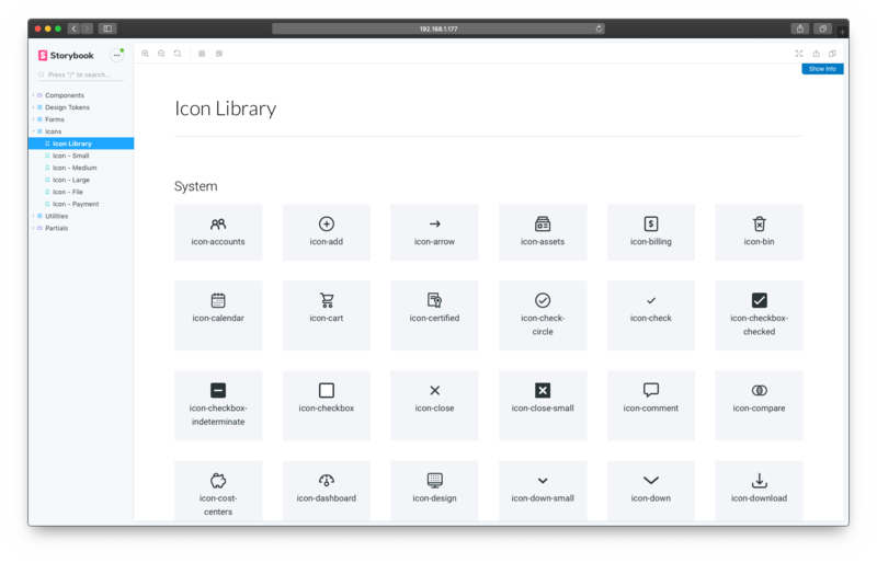 Storybook Icons