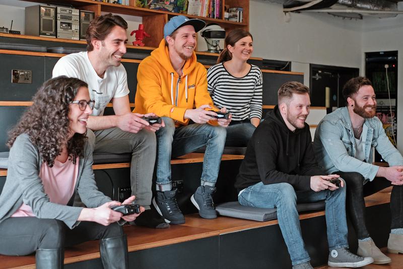 Kyan staff playing video games